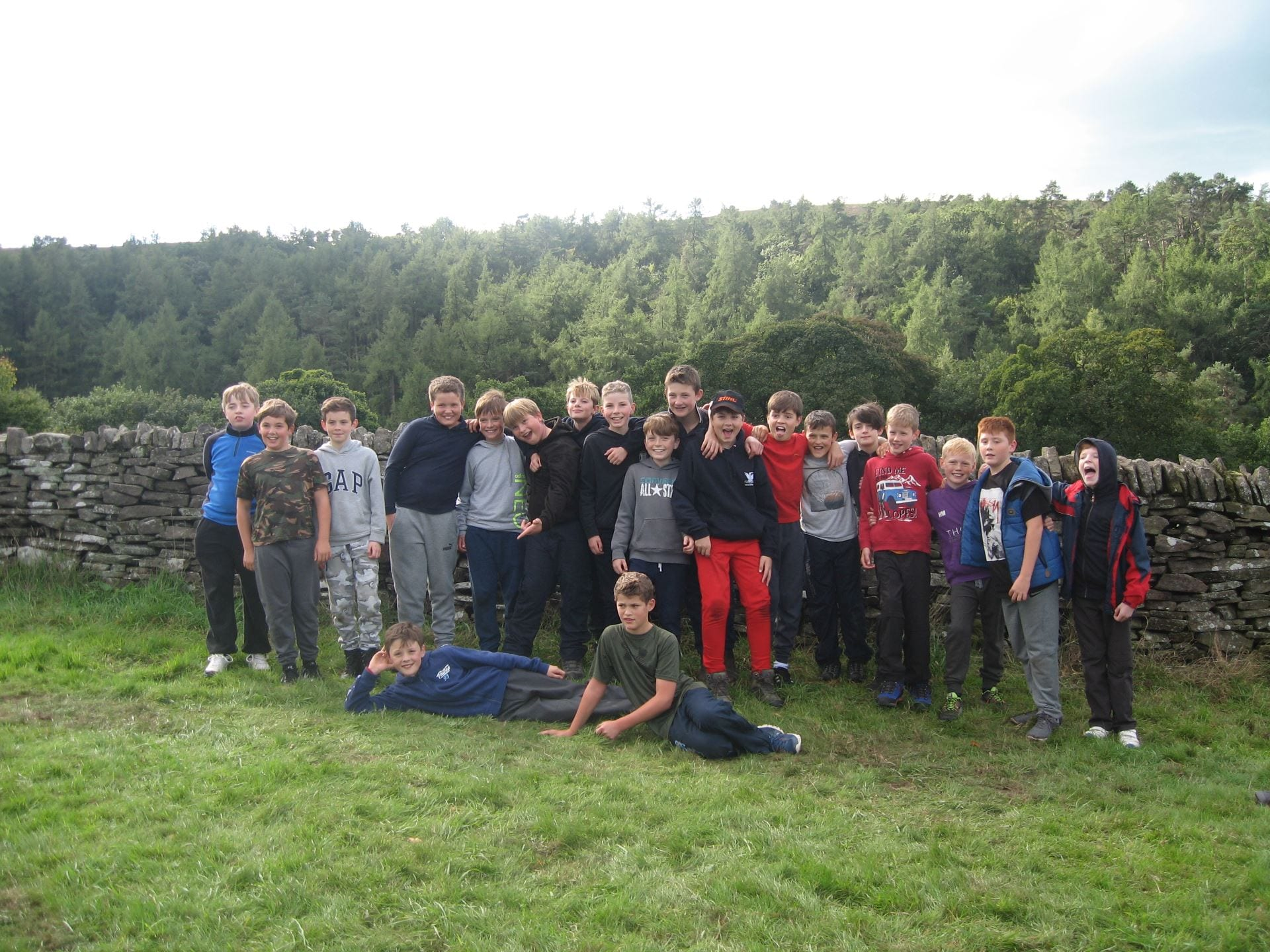 The Year 7 Lads Blog their Camping Residential to the Peak District.